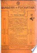 Quaderni di psichiatria rivista mensile teorica e pratica