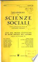 Quaderni di Scienze Sociali