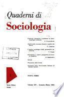 Quaderni di sociologia