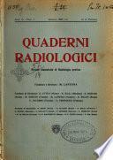 Quaderni radiologici rivista bimestrale di radiologia pratica