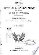 Raccolta degli atti del Governo di Sua Maestà il re di Sardegna