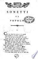 Raccolta di sonetti al popolo dell'abate Giuseppe Vairani nel tempo della Repubblica Cisalpina