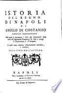 Raccolta Di tutti i più rinomati Scrittori Dell'Istoria Generale Del Regno Di Napoli