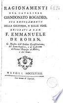 Ragionamenti del cavaliere Giandonato Rogadeo sul regolamento della giustizia, e sulle pene: drizzati a S.A.E. F. Emmanuele de Rohan ..