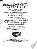 Ragionamenti pastorali fatti al popolo (etc.)