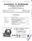 Rassegna d'oltremare Il commercio italo-africano