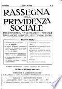 Rassegna della previdenza sociale