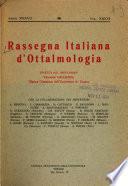 Rassegna italiana d'ottalmologia