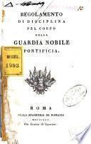 Regolamento di disciplina pel Corpo della Guardia nobile pontificia