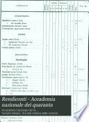 Rendiconti - Accademia nazionale dei quaranta