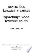 Revue des langues vivantes