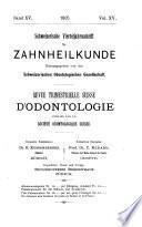 Revue mensuelle suisse d'odontologie
