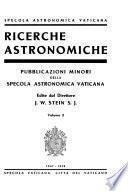 Richerche astronomiche