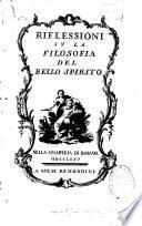 Riflessioni su la filosofia del bello spirito...