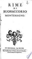 Rime di Buonaccorso Montemagno.