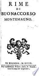 Rime di Buonaccorso Montemagno