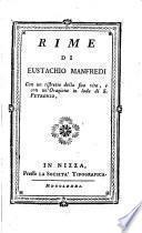 Rime Di Eustachio Manfredi