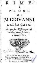 Rime, e prose di M. Giovanni della Casa