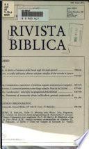 Rivista Biblica
