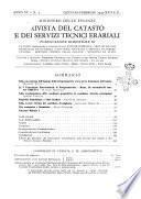 Rivista del catasto e dei servizi tecnici erariali