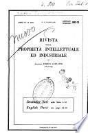 Rivista della proprietà intellettuale ed industriale