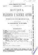 Rivista di filosofia e scienze affini periodico mensile
