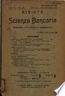 Rivista di scienza bancaria e di economia attuariale e commerciale