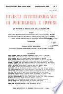 Rivista internazionale di psicologia e ipnosi