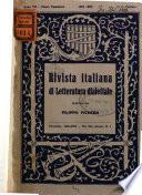 Rivista italiana di letteratura dialettale