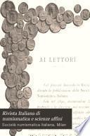 Rivista Italiana di numismatica e scienze affini