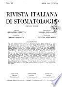 Rivista italiana di stomatologia periodico mensile