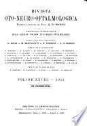 Rivista oto-neuro-oftalmologica ... periodico bimestrale della Società italiana oto-neuro-oftalmologica