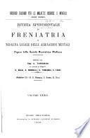 Rivista sperimentale di freniatria e medicina legale delle alienazioni mentali ...