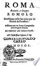 Roma Avanti, e doppo Romolo