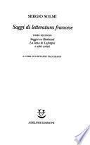 Saggi di letteratura francese: Saggio su Rimbaud ; La luna di Laforgue e altri scritti