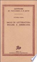 Saggi di letteratura inglese e americana