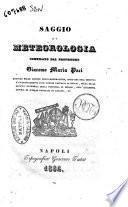 Saggio di meteorologia compilato dal professore Giacomo Maria Paci