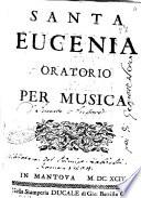 Santa Eugenia oratorio per musica