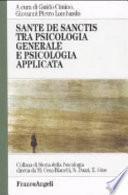 Sante De Sanctis tra psicologia generale e psicologia applicata
