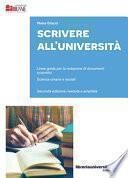 Scrivere all'Università