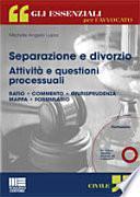 Separazione e divorzio. Attività e questioni processuali. Con CD-ROM