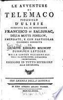 """""""Le"""" Avventure Di Telemacco Figliuolo D' Ulisse"""