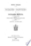 Socialismo, Darwinismo e sociologia moderna