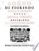 Sogno di Florindo sopra l ́origini della Lingua toscana