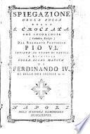 Spiegazione della Bolla della S. Crociata che incomincia (Catholicae Ecclesiae) dal Regnante Pontefice Pio 6. ...[Pietro d'Onofri dell'Oratorio]