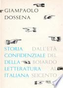 Storia confidenziale della letteratura italiana - volume 2