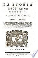 Storia (de' principali avvenimenti) degli anni 1730, 1731 (etc.)