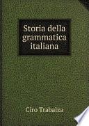 Storia della grammatica italiana