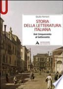 Storia della letteratura italiana. Dal Cinquecento al Settecento