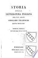 Storia della letteratura italiana: Dall'anno MDC fino all'anno MDCC. (in 2)